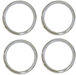 1971 - 1974 Chevelle 15 x 7 Wheel Trim Rings Set, 5 Spoke Style - Shiney Stainless Version