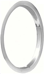 1971 - 1972 Chevelle 15 x 7 Wheel Trim Ring, Each Brushed Stainless Steel Finish