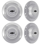 1967 Chevelle Dog Dish Poverty Hubcap Set, 4 Piece Wheel Center Cap Kit