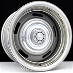 ​Chevy Rally Wheel Kit with Chevy Motor Division Flat Caps, Trim Rings and Lug Nuts​
