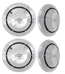 1968 - 1970 Chevelle and Nova Dog Dish Poverty Hubcap Set, 4 Piece COPO Wheel Center Cap Kit