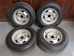 1967 Chevelle 14 X 6 DG Coded Chevy Rally Wheels, Set of 4 with Tires