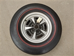 Goodyear Speedway Wide Tread Polyglas NON DOT Redline Tire and Rallye Wheel
