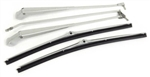 1968 - 1972 Chevelle Stainless Steel POLISHED FINISH Windshield Wiper Arms and Blades, Set