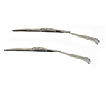 1966 - 1972 Nova Windshield Wiper Arms and Blades Kit, Stainless Finish