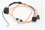 1967 Chevelle Manual Transmission Console Wiring Harness, Used With Console Extension Harness
