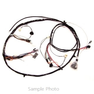 1969 Chevelle Front Headlight Wiring Harness, V8 With Warning Lights on
