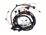 1971 Nova Front Headlight Wiring Harness, V8 With Warning Lights and 1 Wire Alternator - Altpi