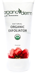 Organoderm Natural 95%+ Certified Organic Raw Sugar Exfoliator-6oz.