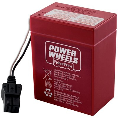 power wheels super 6vdc red battery 00801 0712Power Wheels K4564 Diego Jeep Wrangler 4x4 Tru 6 Volt Toy Battery #13