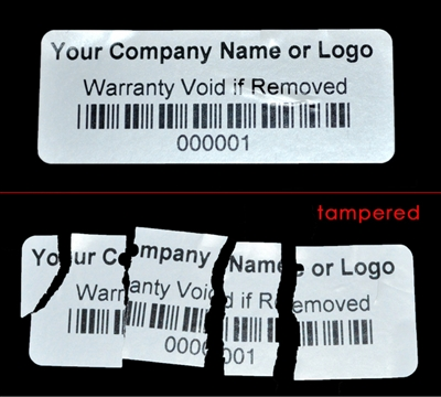 Custom Print Destructable Security Label, Custom Print Destructable Security Sticker, Custom Print Destructable Security Seal