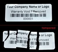 Custom Print Destructable Warranty Security Label, Custom Print Destructable Warranty Security Sticker, Custom Print Destructable Warranty Security Seal