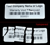 Custom Print Destructible Warranty Security Label, Custom Print Destructible Warranty Security Sticker, Custom Print Destructible Warranty Security Seal