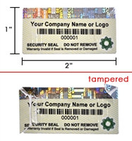 Destructible Holographic Label, Destructible Holographic Sticker, Destructible Holographic Seal,