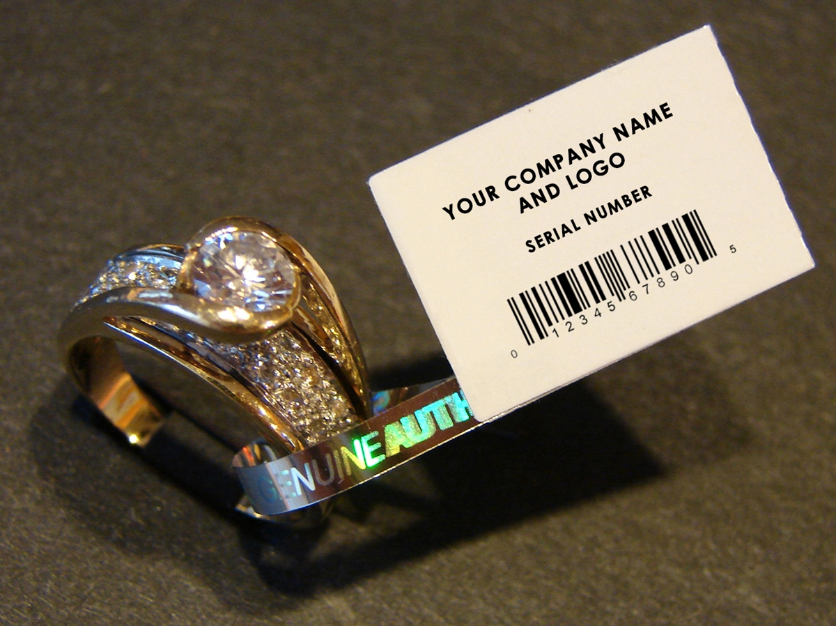 Custom Print Jewelry Security Tags