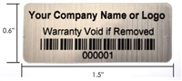 Asset ID Security Labels, Asset ID Security Tags, Asset ID Security Stickers