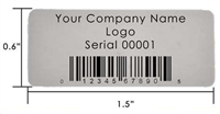 Silver ID Labels, Silver ID Stickers, Silver ID Tags