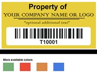Custom Asset Label Serialized