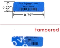 Custom Blue Tamper Evident Label, Custom Blue Tamper Evident Sticker, Custom Blue Tamper Evident Seal,