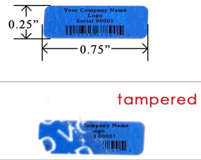 Custom Print Blue Tamper Evident Security Label, Custom Print Blue Tamper Evident Security Sticker, Custom Print Blue Tamper Evident Security Seal,