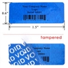 Customized Print Blue warranty Label, Customized Print Blue warranty Sticker, Customized Print Blue warranty Seal,
