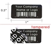 Custom Print Black void Label, Custom Print Black void Sticker, Custom Print Black void Seal,