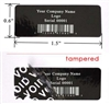 Customized Print Black Tamperco Label, Customized Print Black Tamperco Sticker, Customized Print Black Tamperco Seal,