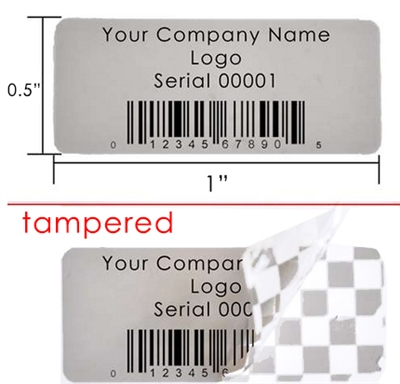 Customized Print Grey Security Label, Customized Print Grey Security Sticker, Customized Print Grey Security Seal,