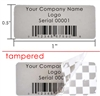 Custom Print Grey void Label, Custom Print Grey void Sticker, Custom Print Grey void Seal,