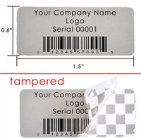 Custom Grey warranty Label, Custom Grey warranty Sticker, Custom Grey warranty Seal,