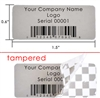 Custom Grey Tamperco Label, Custom Grey Tamperco Sticker, Custom Grey Tamperco Seal,