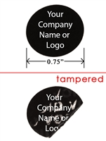 Black Round Non Residue Security Label, Black Round Non Residue Security Sticker, Black Round Non Residue Security Seal,