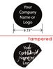 Black Round Non Residue Warranty Label, Black Round Non Residue Warranty Sticker, Black Round Non Residue Warranty Seal,
