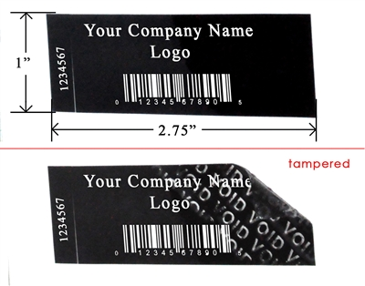 Black Matte Warranty Labels, Black Matte Warranty Stickers, Black Matte Warranty Seals