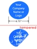 Blue Round Non Residue Warranty Label, Blue Round Non Residue Warranty Sticker, Blue Round Non Residue Warranty Seal,