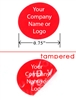 Red Round Non Residue Security Label, Red Round Non Residue Security Sticker, Red Round Non Residue Security Seal,