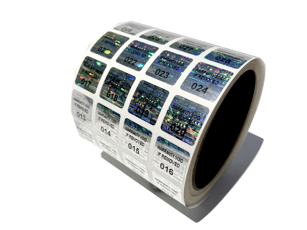 1000 Tamper Evident Labels Stickers Seals with Unique Numbering