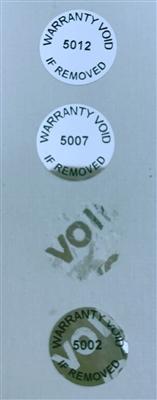 "2.75/"" X1/"" METALLIC SILVER 250 CUSTOM PRINTED TAMPER EVIDENT VOID SECURITY LABEL"