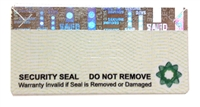 casino security label, casino security seal, casino tapmer evident sticker, casino security tag
