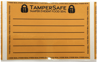 "500 Neon Tamper Evident Writable Food Seals Security Labels Size 2.37"" x 1.75"" (60mm x 44mm)"