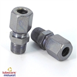 Straight compression 1/8 BSP / R1/8 - 6mm Zink Nickel 200311