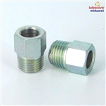 Extension adapter R1/4 CON.-R1/8 BI. L=20