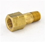 "Adapter 1/8 (F) BSPP X 1/8 (M) BSPT x 1-1/4"""" Long – Brass"