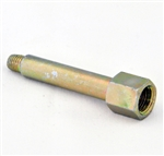 "Adaptor 1/4-28 (F) UNF X 1/8 (M) BSPT x 2-1/2"""" Long - Brass"