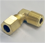 Elbow Compression 1/4NPT(M) X 1/4 Tube