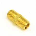Hex Pipe Nipple 1/4(M) NPT X 1/4 (M) NPT - Brass