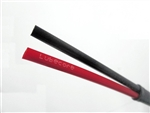 Tubing Secondary Double 5mm  X 2.6mm FILLED - Red/Blk