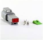 2 PIN RECEPTACLE CONNECTOR AT DT04-2P COMPATIBLE - complete