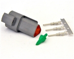 kit 3 Pin Receptacle Amphenol