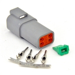 kit 4 Pin Receptacle Amphenol